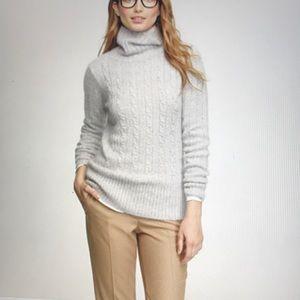J. Crew Merino Wool White Sweater Size M